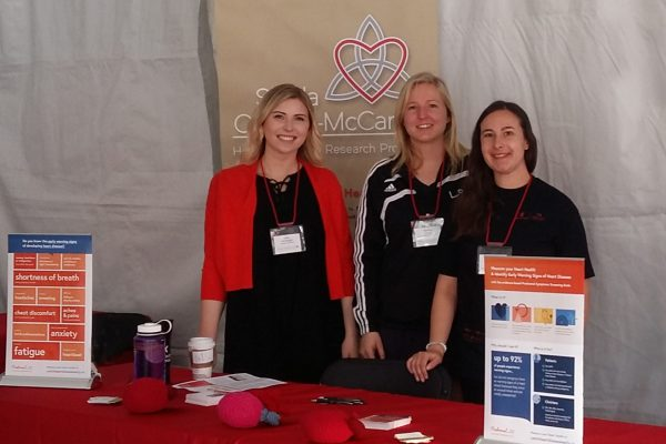 The Heart Innovation Research Program team provided information at the Walk of Life for Cardiac Health Foundation in 2018.