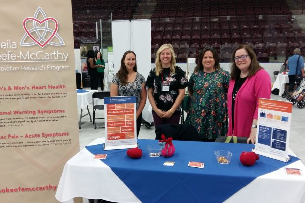 The Heart Innovation Research Program provided information to attendees at the St. Catharines Senior Day, in June 2018.