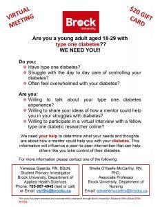 Recruitment Sheet -diabetes mentorship study